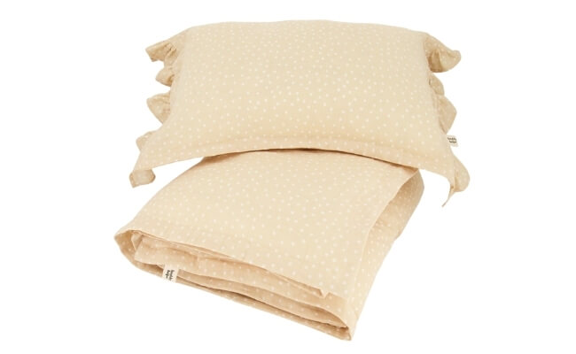 Muslin Crib Bedding Set Sand